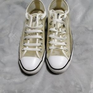 Clear low top Converse All Star